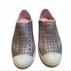 Native Glitter Slip On Shoes